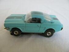 Vintage Aurora Thunderjet TJet HO Turquoise Ford Mustang Fastback 2+2 #1373 VG