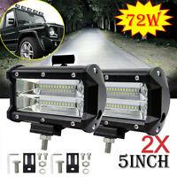 2X 72W LED LUCE FARO LAMPADA DA LAVORO FARETTO AUTO BARCA CAMION KLW SUV 12V 24V
