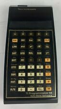Texas Instruments Vtg Programmable 59 Calculator Solid State Software PreOwned