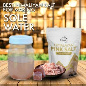 Himalayan Rock Salt Chunks for Sole - Place in drinking water for you and pets