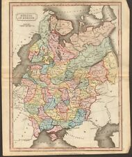 1815 ca ANTIQUE MAP - HAND COLOURED - RUSSIA IN EUROPE