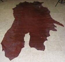 NIA8023-5) Part Hide of Burgundy Cow Leather Hide Skin