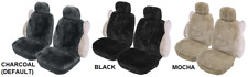 PAIR PREMIUM 25MM SHEEPSKIN CAR SEAT COVERS RENAULT SCENIC RX4