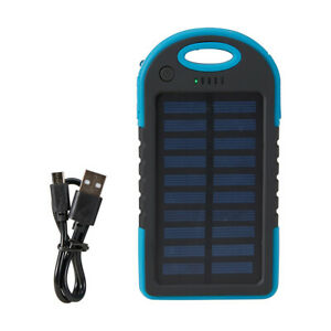New Portable Solar Charger USB External Battery Power Bank With light F1