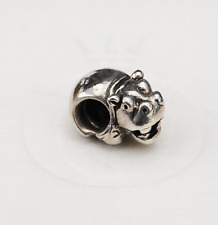 "Genuine Pandora Silver Charm ""Hippo""  790334 - retired"