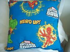 "NEW Made in Uk Cushion Cover Hero Up Marvel for 22"" Blue Baby Hulk Iron Man etc."