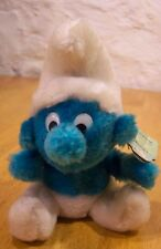 "1980 VINTAGE SMURF 7"" Plush Stuffed Animal"
