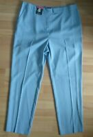 M&S Ladies Straight Leg Elasticated Waist Pull On Trousers Pale Blue Sizes 18/20