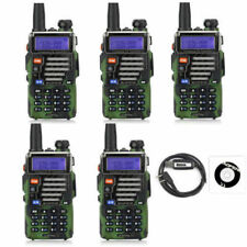 5x BaoFeng UV-5R Plus Qualette Camouflage + Earpiece VHF/UHF Ham Two-way Radio