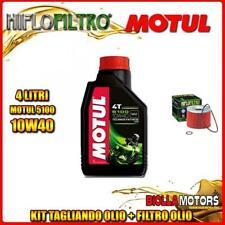 KIT TAGLIANDO 4LT OLIO MOTUL 5100 10W40 TRIUMPH 900 Tiger 900CC 1991-2000 + FILT