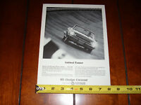 1965 DODGE CORONET - ORIGINAL VINTAGE AD