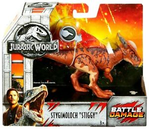 Jurassic World Stygimoloch STIGGY Battle Damage Dinosaur Figure Fallen Kingdom