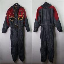 Vtg 80s 90s DESCENTE One Piece Ski Suit BIB Snow Retro Snowsuit Mens Size Large