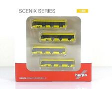 Herpa Wings Airport accessories: Airport Bus Set - set of 4 1:400 (562591)
