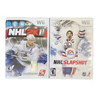 Nintendo Wii Bundle NHL 2K11 NHL Slapshot Video Game Lot