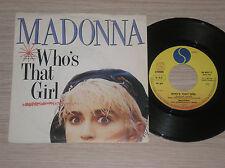 """MADONNA - WHO'S THAT GIRL / WHITE HEAT - 45 GIRI 7"""" ITALY"""