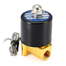 """1/4"""" 2 Way N/C Electric Solenoid Valve 12V DC-Volt for Air Gas Fuel brass body"""