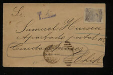 Mexico cover local used postage due 1917 Mm0528