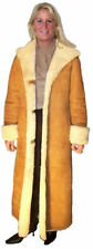 Ladies Full Length Hooded Shearling Coat, size Small