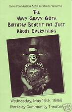 WAVY GRAVY B DAY BGP  SEVA CONCERT HANDBILL GRATEFUL DEAD  AIRPLANE  BERKELEY