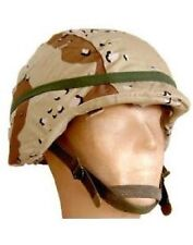 US Army PASGT 6 color Desert chocolate Helmet Helm cover w Cat eye Tarnbezug M/L