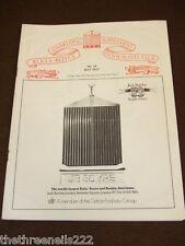 ROLLS ROYCE ENTHUSIASTS CLUB ADVERTISER #14 - MAY 1977