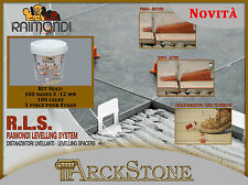 ARCKSTONE Kit Seau: 100 bases 3-12 mm + 100 cales + 1 pince étage Raimondi RLS
