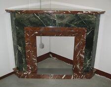 Camino antico ad angolo in marmo bicolore inizio 1900 Art.3876