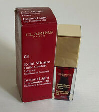 NEW! CLARINS INSTANT LIGHT LIP COMFORT OIL TREATMENT IN RED BERRY SALE