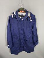 JOULES WATERPRROF Coat - UK18 - Navy - Hooded - Great Condition - Women's