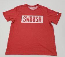"Nike Men's Dri-FIT ""Swoosh"" Red Nike Tee Shirt Athletic Cut Size XL (835341)"