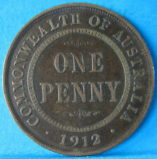 1912 Australia 1d One Penny ** 6 PEARLS ** #5045 =ERROR DELAMINATION/HOLE=