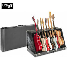 Stagg GDC-8 Universal Guitar Stand Case for 8 Electrics or 4 Acoustics - Black