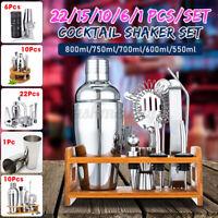 US Pro Bartender Kit Cocktail Shaker Set Drink Martini Maker Mixing Mixer Tool