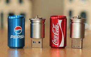 New Novelty Drinks in Can Pen Flash Drive Storage Gift Memory Stick USB 2.0