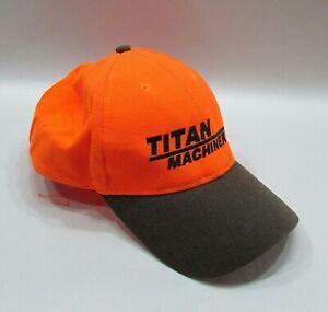 Titan Farm Machinery Hunter Orange Daystone Trucker Hat Farm Baseball Cap FREE S