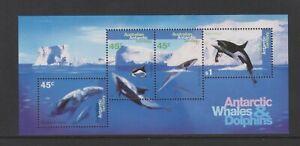 Aat - 1995, Baleines & Dauphins Feuille - MNH - Sg MS112