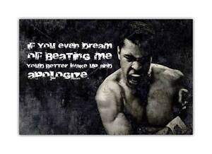 Black and White Muhammad Ali Apologize Quote Poster Art Pictures Wall Prints