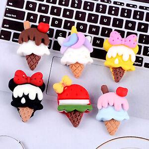35pcs Small ice cream Cabachons Diy phone shell decoration Handmade