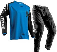 2018 34 L Thor Sector Zones Blue Jersey Pant Kit Motocross Enduro