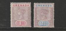 QV GRENADA 95/96 1d & 2½d fresh lmm cat £20