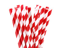 100 Kraft Paper Drinking Straws Red Strong 3 ply Cafe Take Away