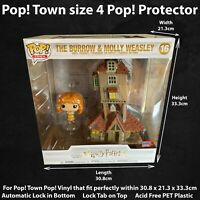 Pop! Town size 4 Funko Pop! Vinyl Protector Case for #16 Burrow & Molly Weasley
