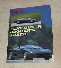 Jaguar XJ220 Autocar Promotional Reprint Brochure 1992