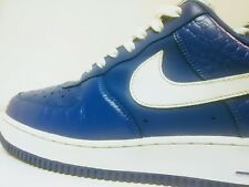 Blue low Air Force 1's With White Swoosh