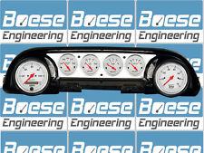63-64 Ford Galaxie Aluminum Dash Insert Panel w/ Auto Meter Arctic White  GPS