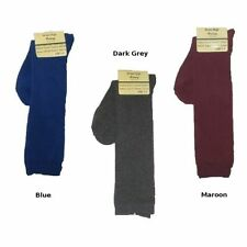 Cotton Blend Patternless Machine Washable Socks for Women