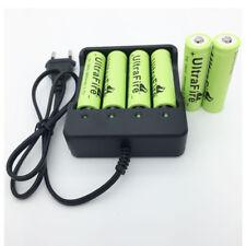 6X 18650 8800mAh Battery 3.7V Li-ion Recargable + Batería Cargador for Antorcha