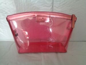 NWT - Kate Spade - Sabine - Medium Cosmetic Pouch / Bag - Metallic Pink