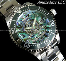 Invicta Men 47mm Grand Diver Automatic Abalone Dial Silver Nh35 24 Jewels Watch